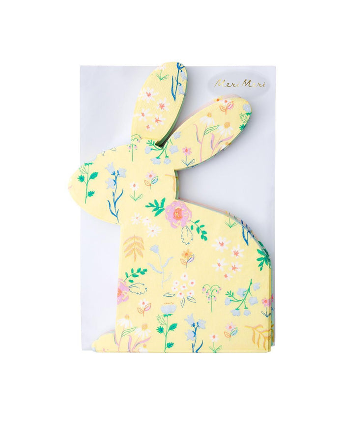 Little meri meri paper+party wildflower bunny shaped napkin