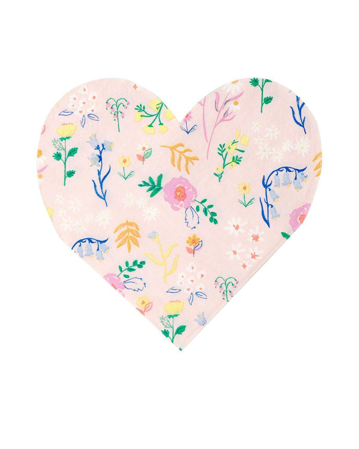 Little meri meri paper+party wildflower heart napkin