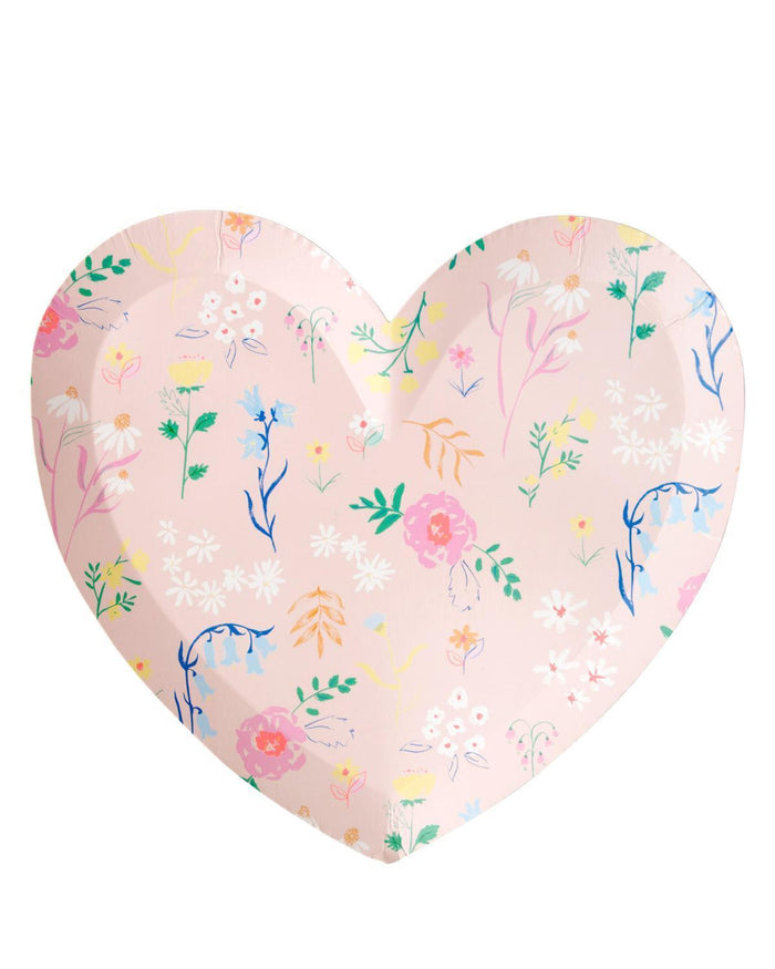 Little meri meri paper+party wildflower heart plate