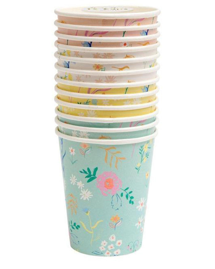 Little meri meri paper + party wildflower pastel cups