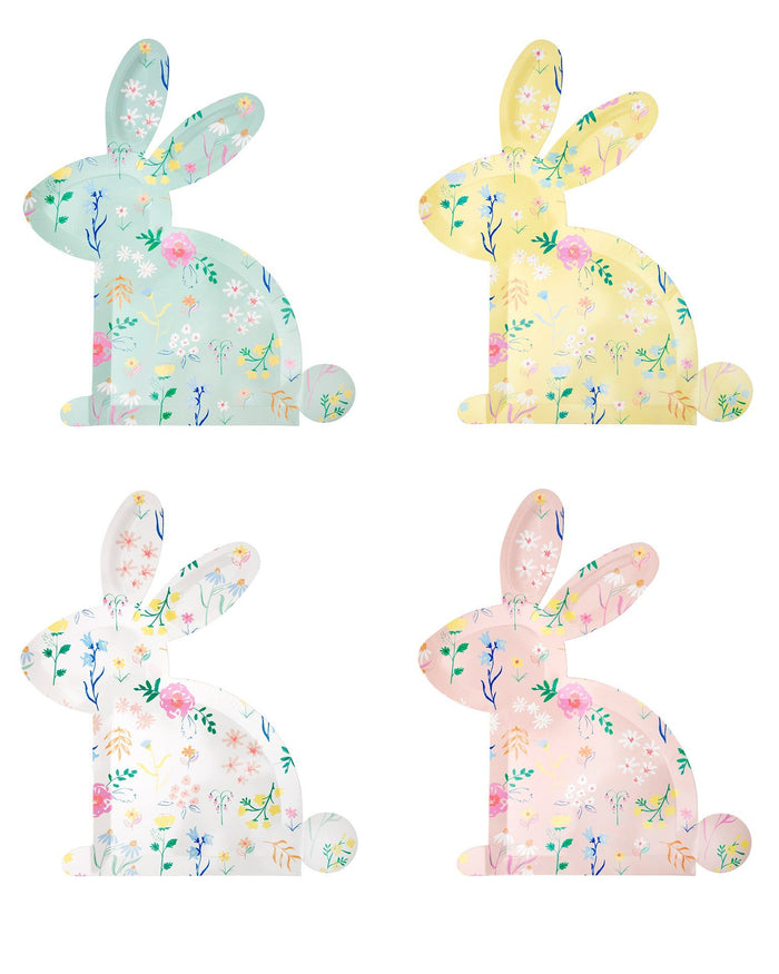 Little meri meri paper+party wildfower bunny shaped plates