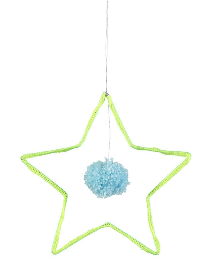 Little meri meri room Wire + Wool Star Decoration
