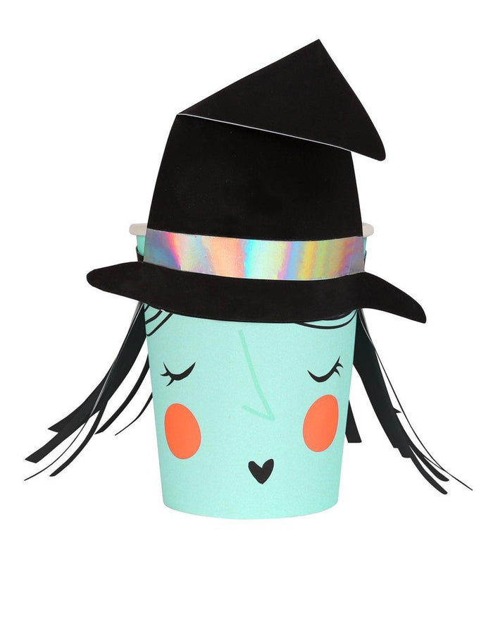 Little meri meri paper+party witch halloween cups