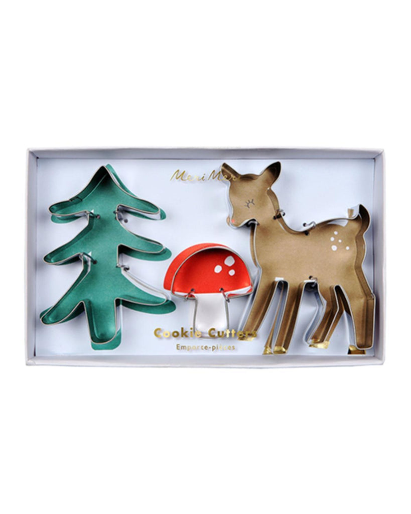 Little meri meri paper+party woodland cookie cutters