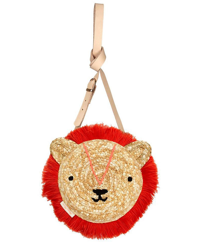 Little meri meri accessories woven lion bag