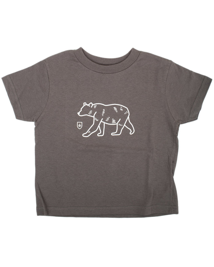 Little might & main boy bear tee