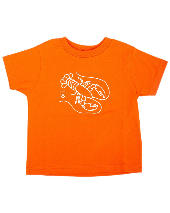Little might & main boy lobster tee