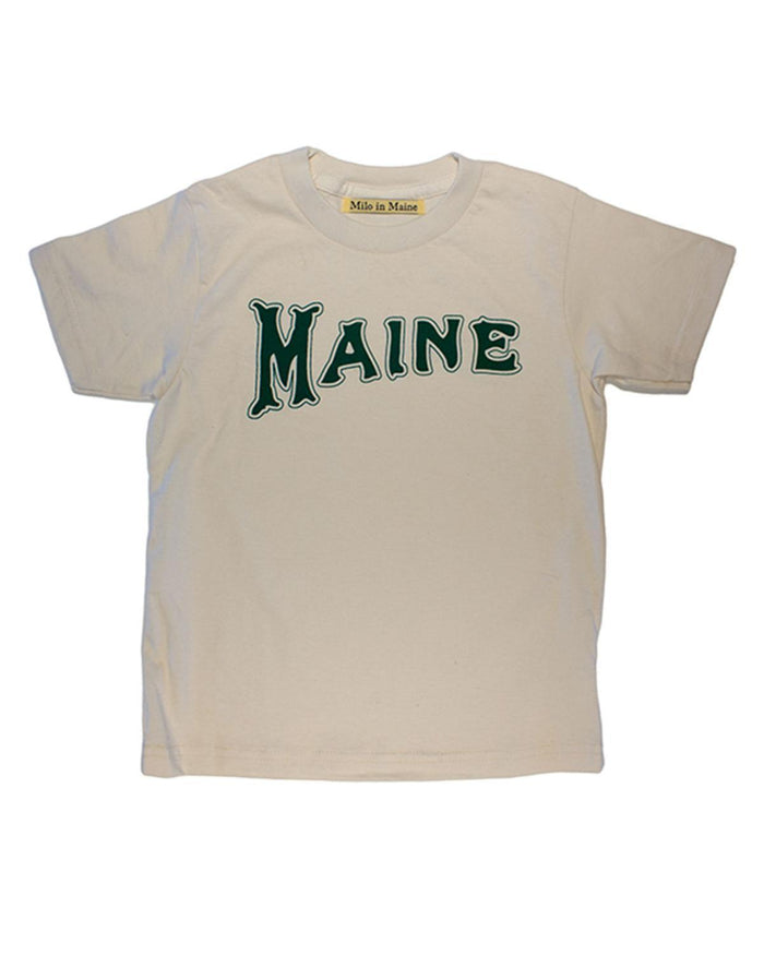 Little milo in maine baby boy 3-6 S/S Baby Maine Tee in Natural + Green
