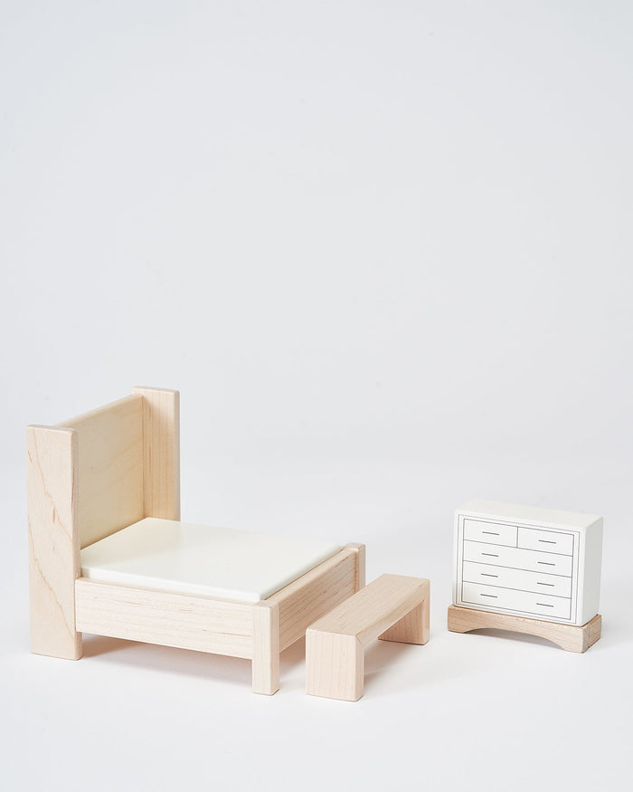 Little milton + goose play bedroom dollhouse furniture set
