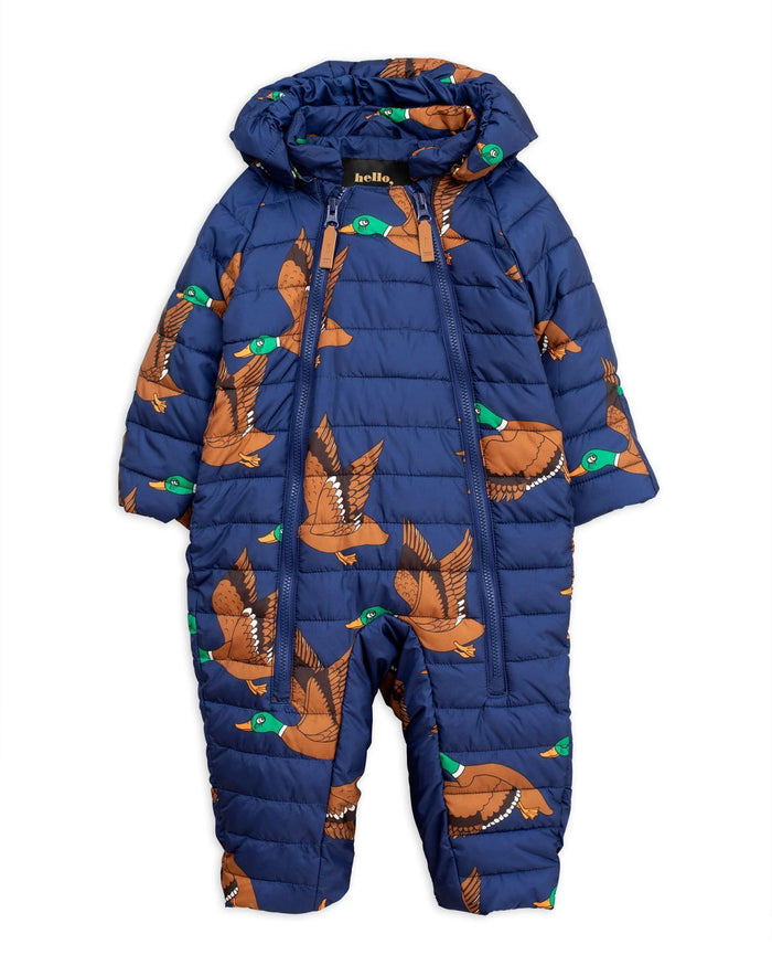 Little mini rodini baby boy 56 ducks insulator baby overall