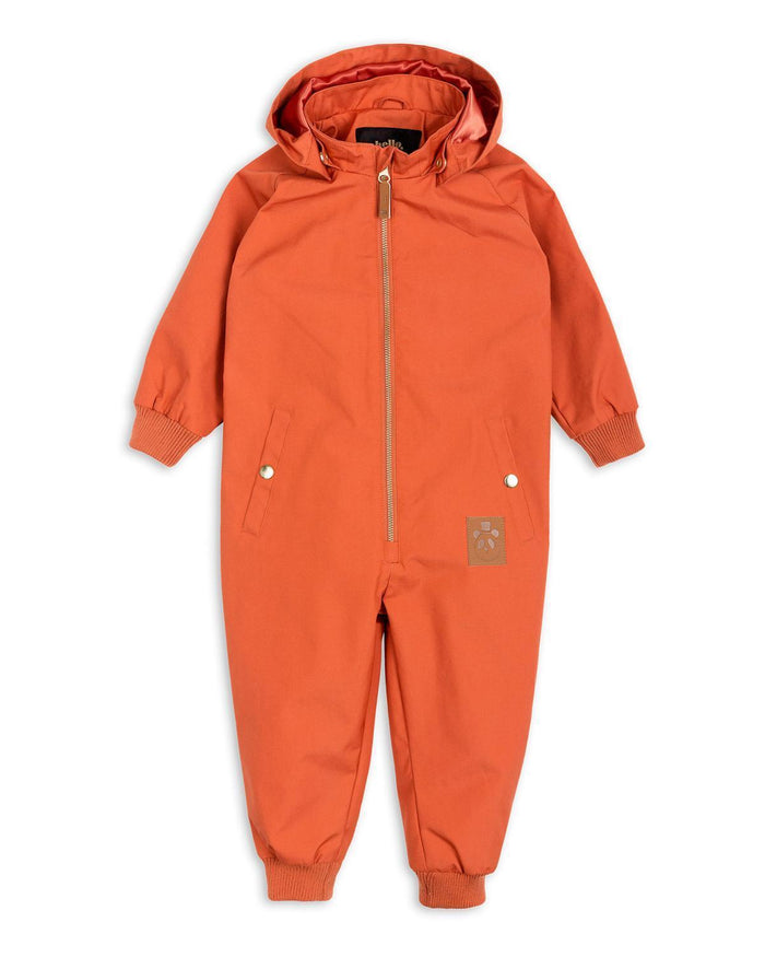 Little mini rodini baby boy 62 pico overall in orange