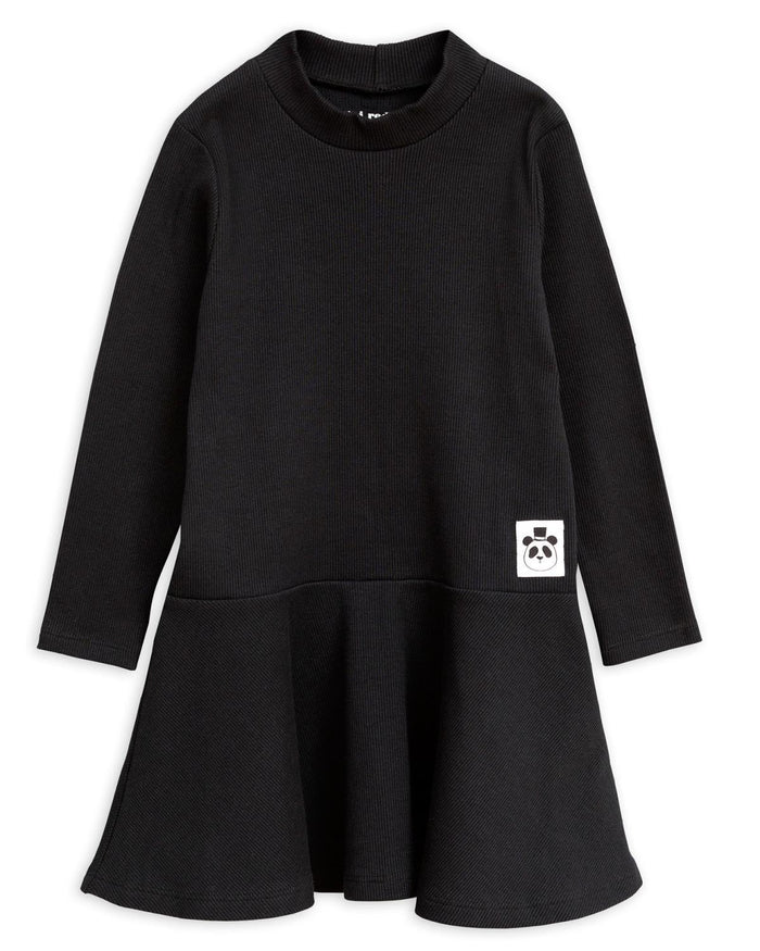 Little mini rodini girl 80/86 solid rib turtleneck dress