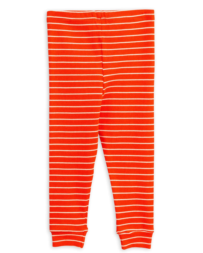 Little mini rodini girl 80/86 stripe rib leggings in red