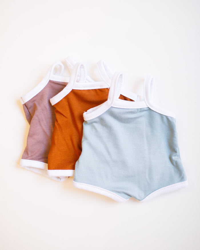 Little minikane play 3 tank onesies