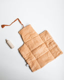 Little minikane play changing mat in terre de sienne + wooden bottle