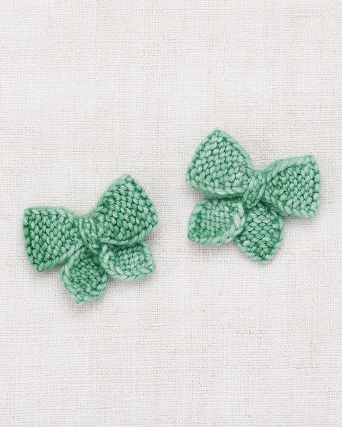 Little misha + puff accessories one size baby puff bow set in celadon