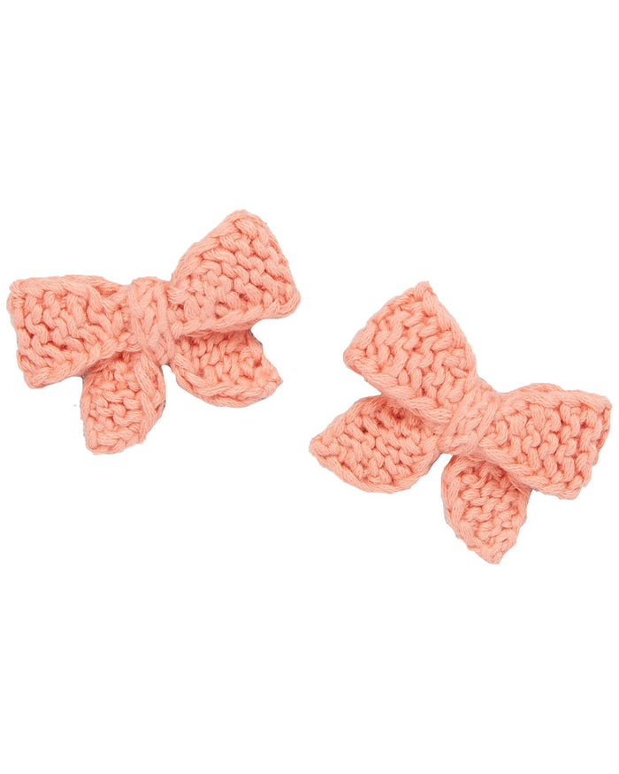 Little misha + puff accessories baby puff bow set in coral