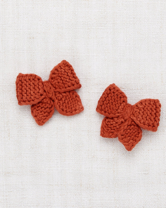 Little misha + puff accessories baby puff bow set in paprika