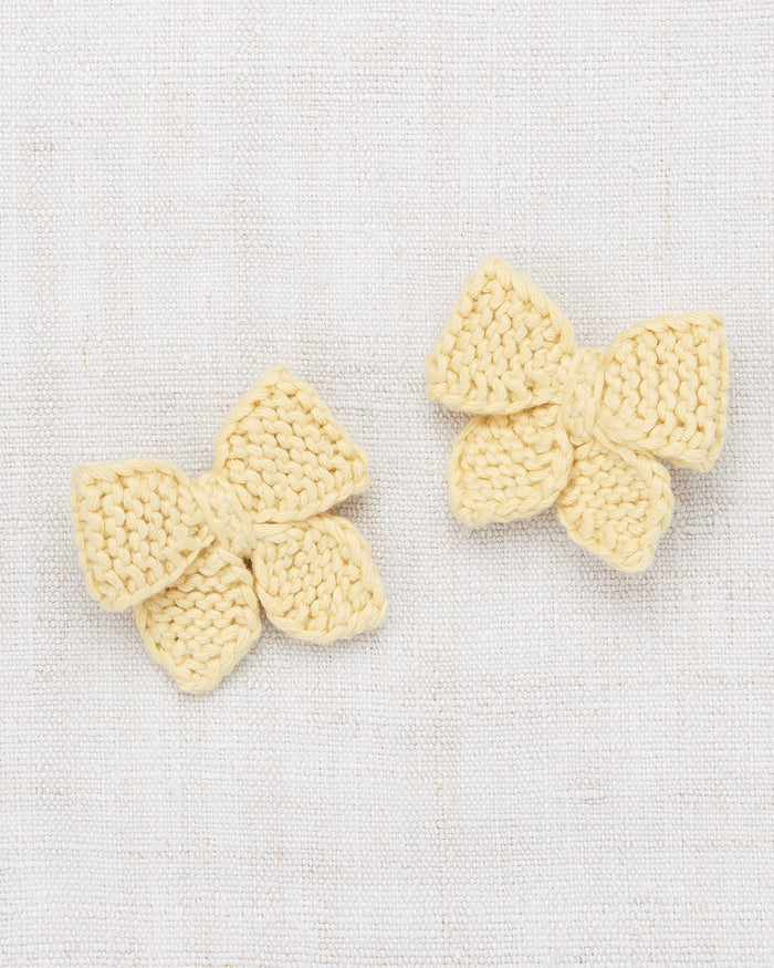 Little misha + puff accessories baby puff bow set in straw