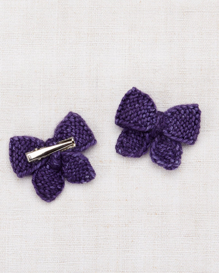 Little misha + puff accessories one size baby puff bow set in violet