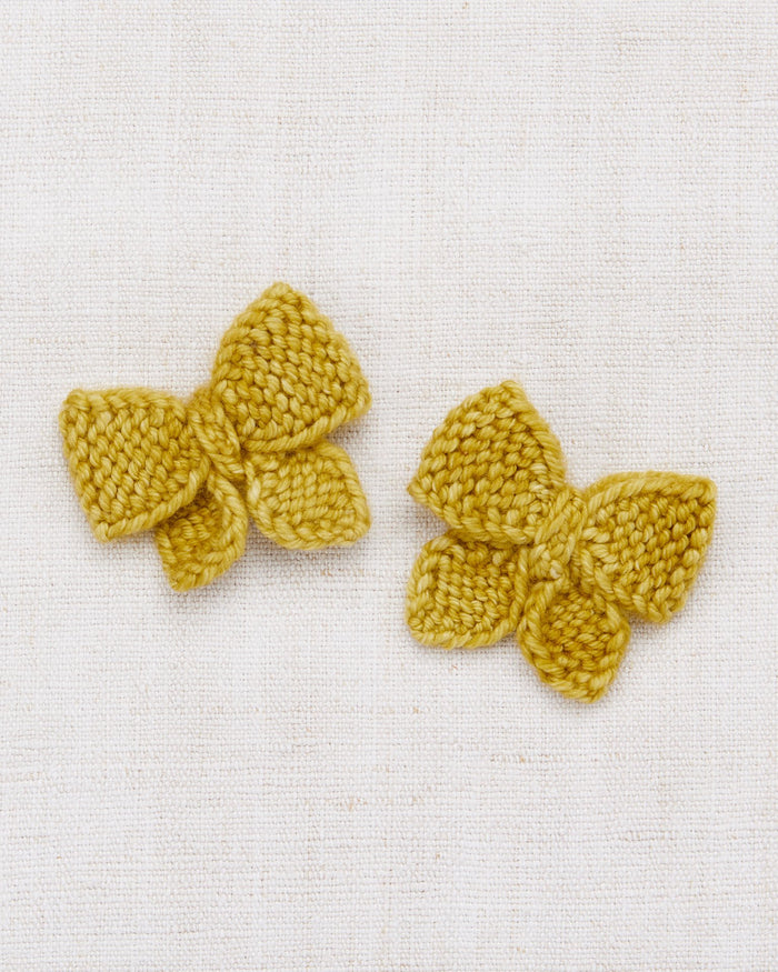 Little misha + puff accessories one size baby puff bow set in winter wheat
