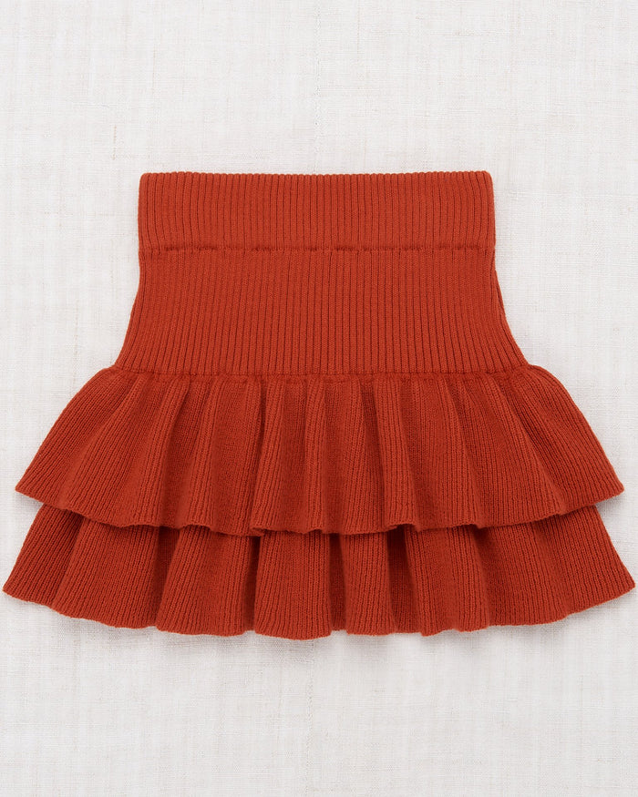 Little misha + puff girl block party skirt in paprika