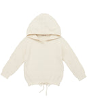 Little misha + puff girl chevron hoodie in vanilla