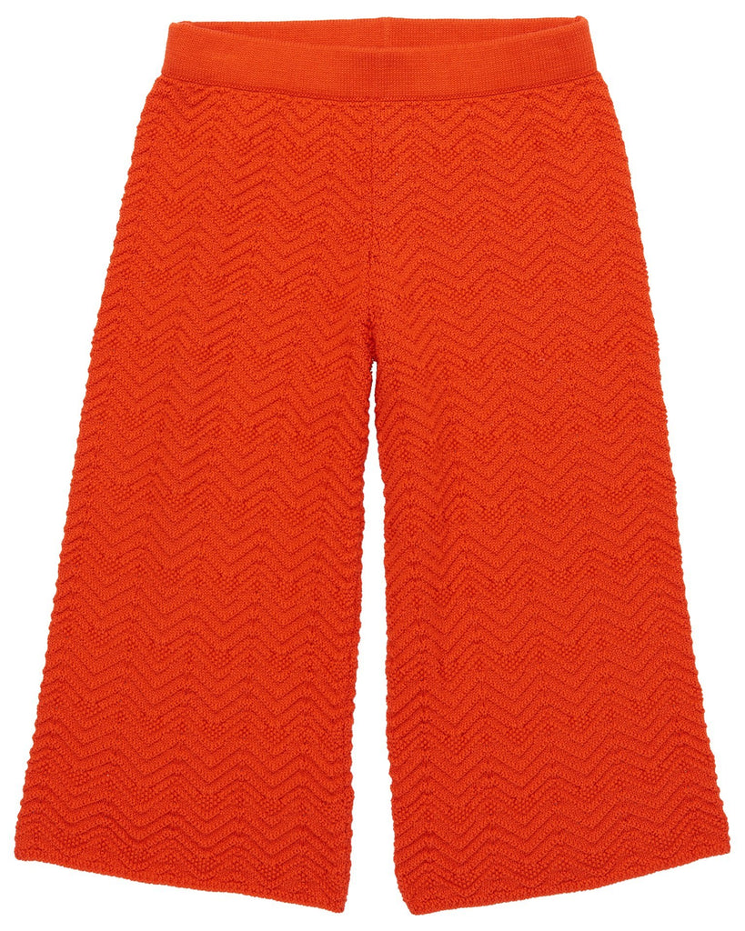 Little misha + puff girl chevron pants in crimson red