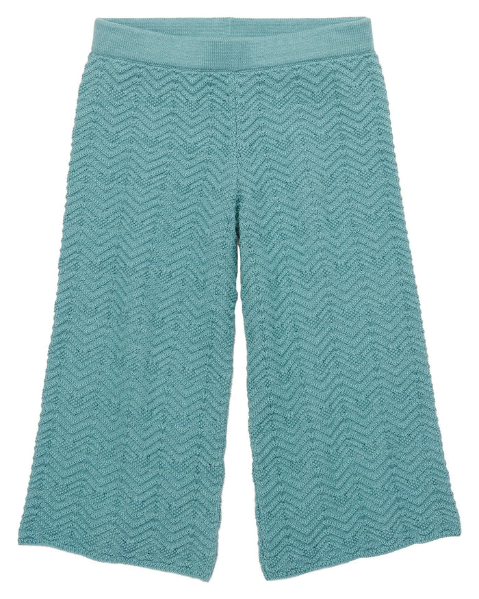 Little misha + puff girl chevron pants in dusty blue