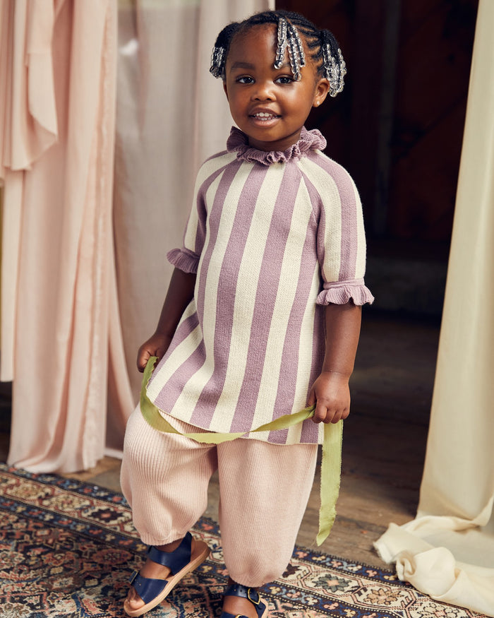 Little misha + puff girl circus dress in antique mauve