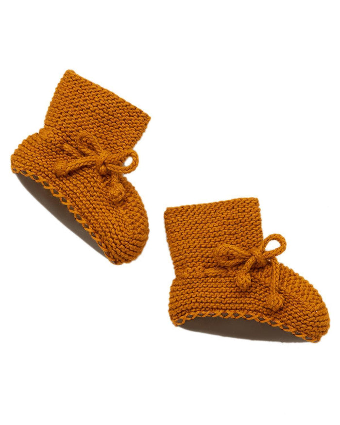 Little misha + puff baby accessories 0-6 day hike booties in marigold