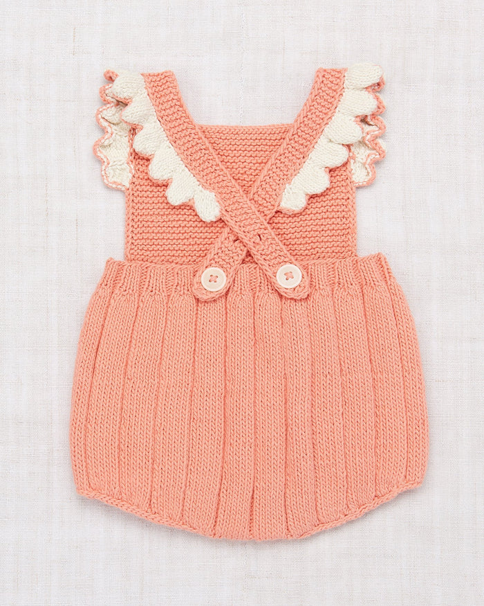 Little misha + puff baby girl eleanor sunsuit in coral
