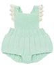 Little misha + puff baby girl eleanor sunsuit in mint