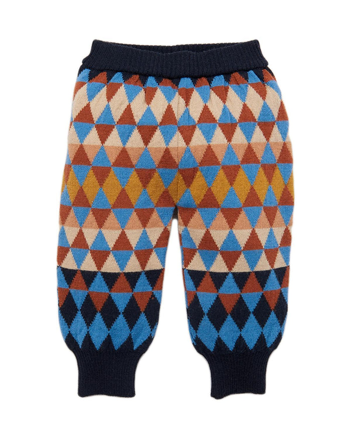 Little misha + puff baby boy 12-18 harlequin jogger