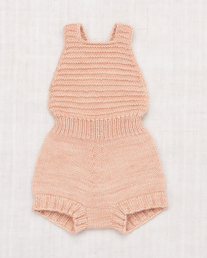 Little misha + puff layette layette sugar maple sunsuit in faded rose