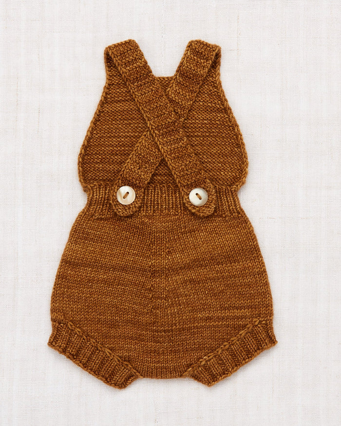 Little misha + puff layette layette sugar maple sunsuit in nutmeg