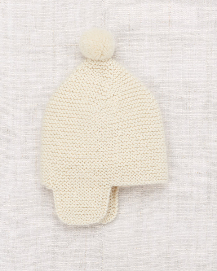 Little misha + puff layette layette twig cap in ecru