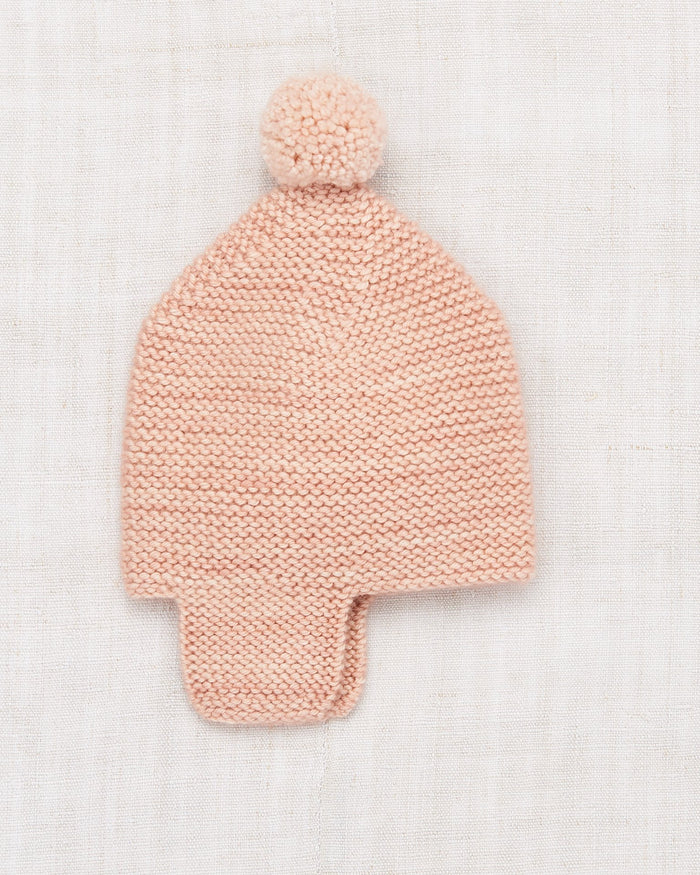 Little misha + puff layette layette twig cap in faded rose