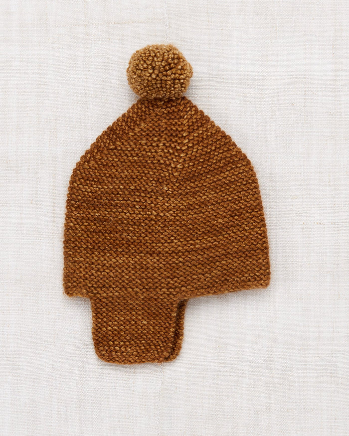 Little misha + puff layette layette twig cap in nutmeg