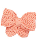 Little misha + puff accessories medium puff bow in coral