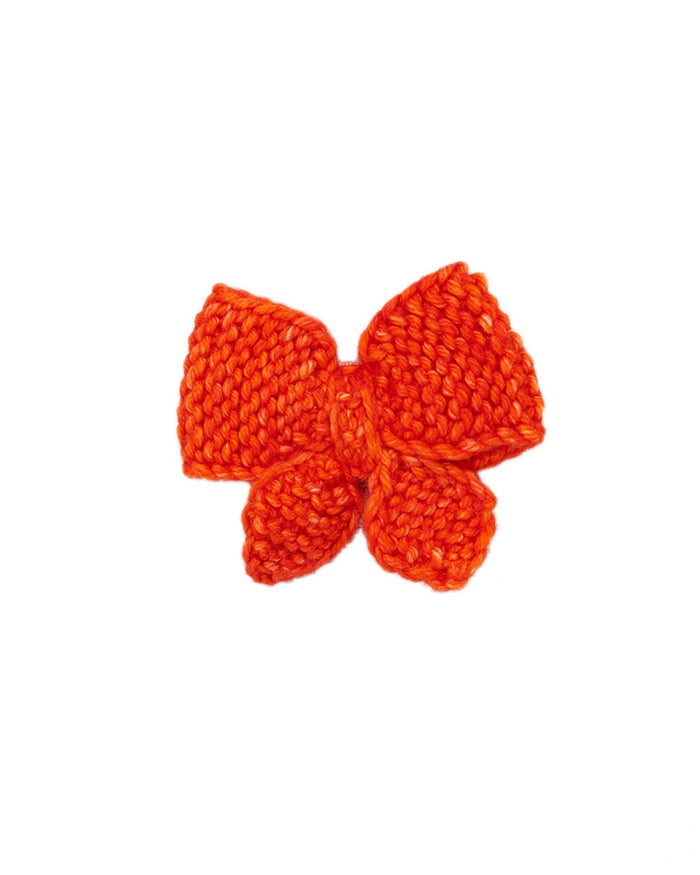 Little misha + puff accessories medium puff bow in hot red