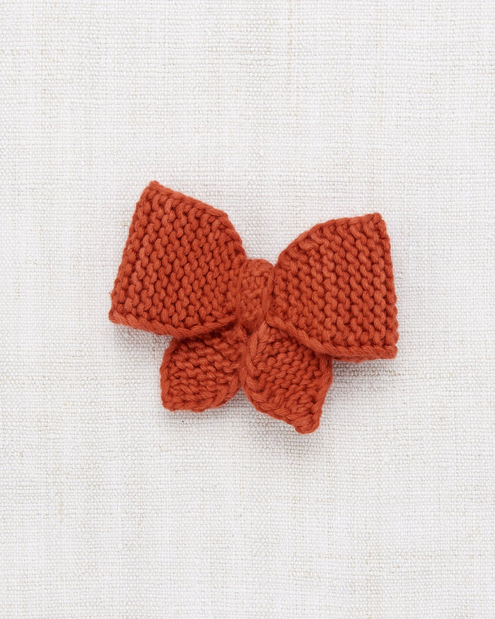 Little misha + puff accessories medium puff bow in paprika