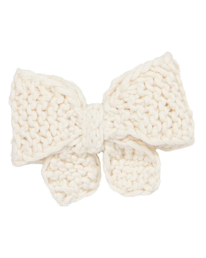 Little misha + puff accessories medium puff bow in vanilla