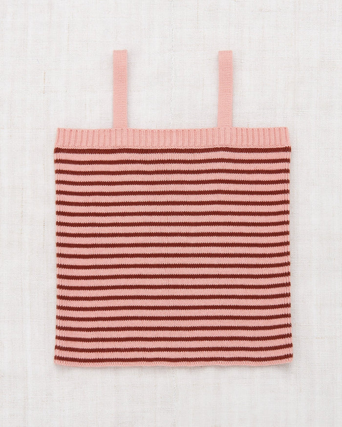 Little misha + puff girl mini stripe tank in rose blush