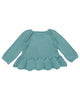 Little misha + puff girl peplum pullover in dusty blue