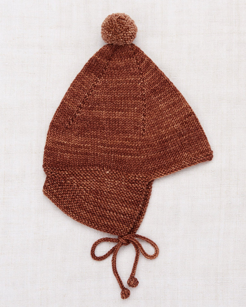 Little misha + puff baby accessories pointy peak hat in chestnut
