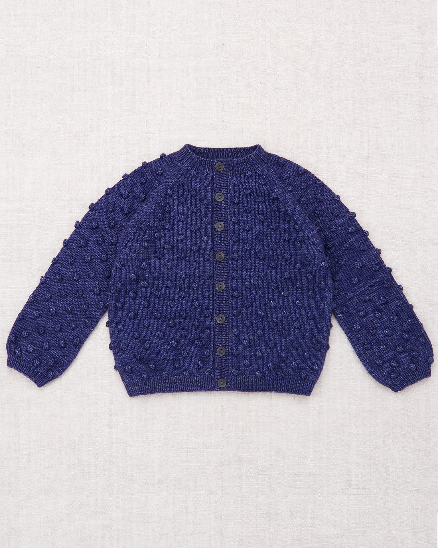 Little misha + puff girl popcorn cardigan in violet