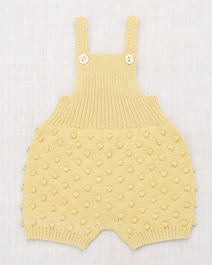 Little misha + puff baby girl popcorn romper in straw