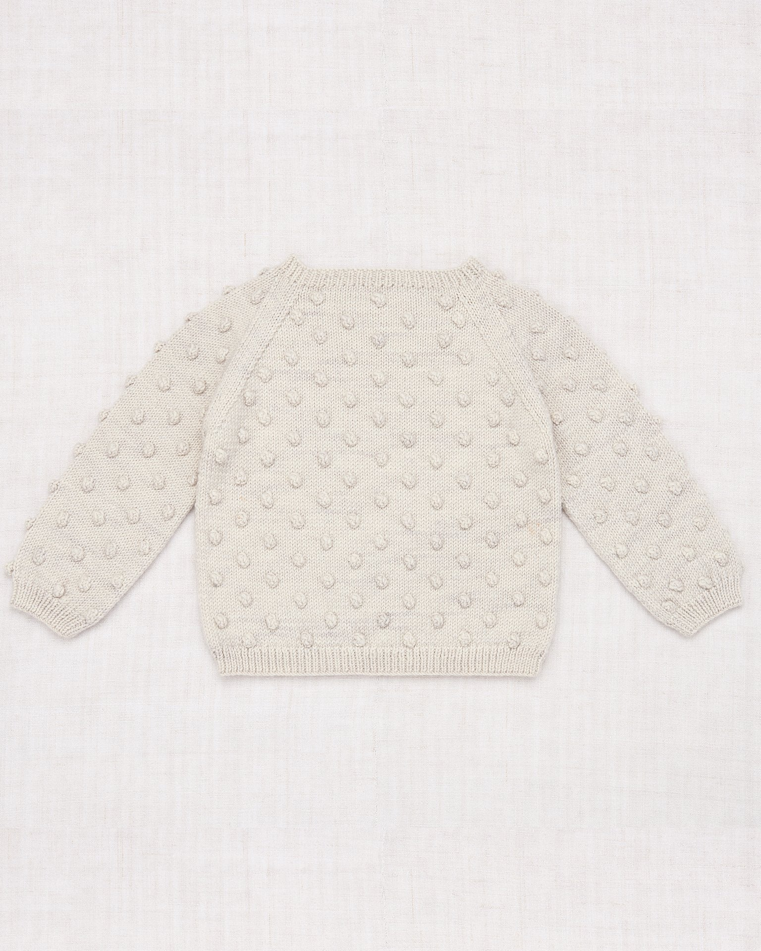 Little misha + puff girl popcorn sweater in cloud
