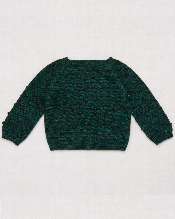 Little misha + puff girl popcorn sweater in laurel